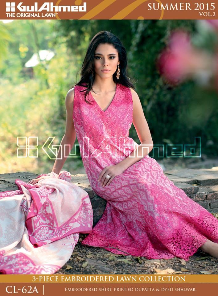 Gul Ahmed The Original Lawn Summer Lawn Chiffon Dresses Collection 2015-2016 (14)