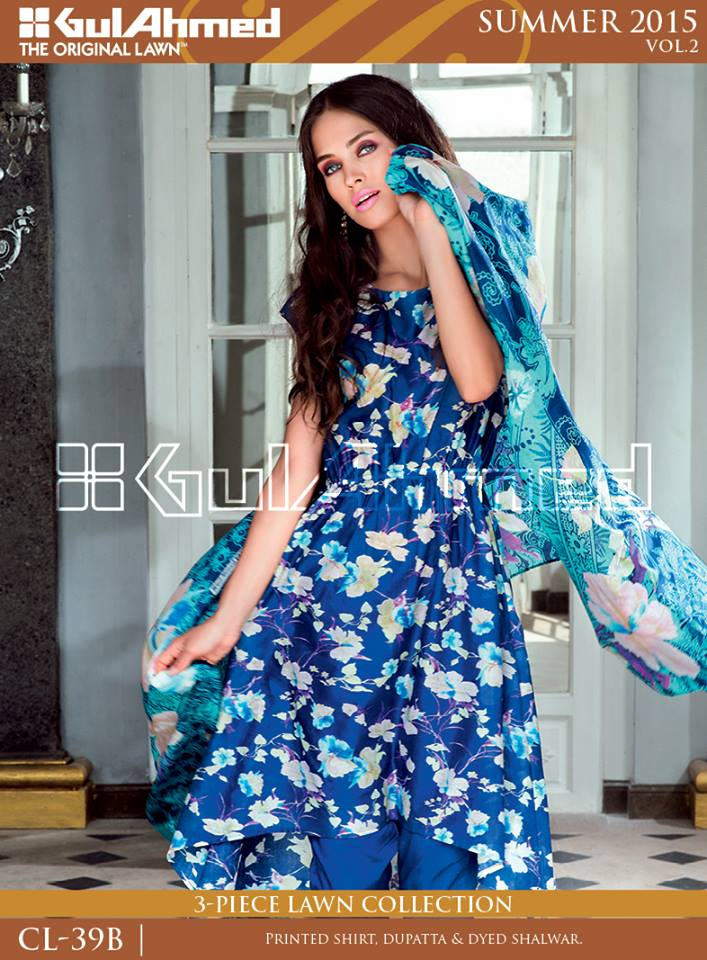 Gul Ahmed The Original Lawn Summer Lawn Chiffon Dresses Collection 2015-2016 (17)