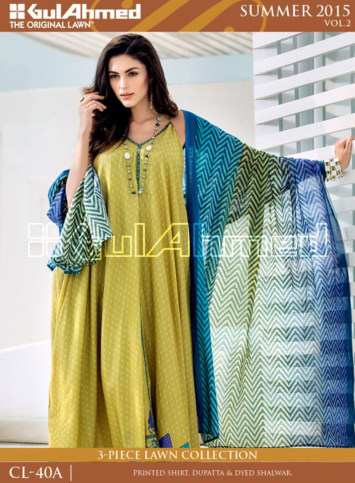 Gul Ahmed The Original Lawn Summer Lawn Chiffon Dresses Collection 2015-2016 (20)