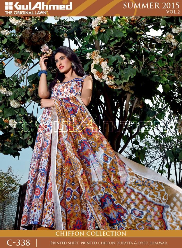 Gul Ahmed The Original Lawn Summer Lawn Chiffon Dresses Collection 2015-2016 (21)