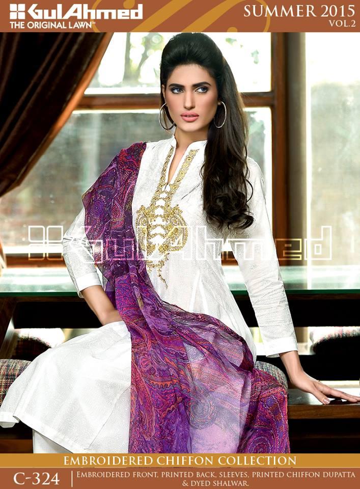 Gul Ahmed The Original Lawn Summer Lawn Chiffon Dresses Collection 2015-2016 (23)