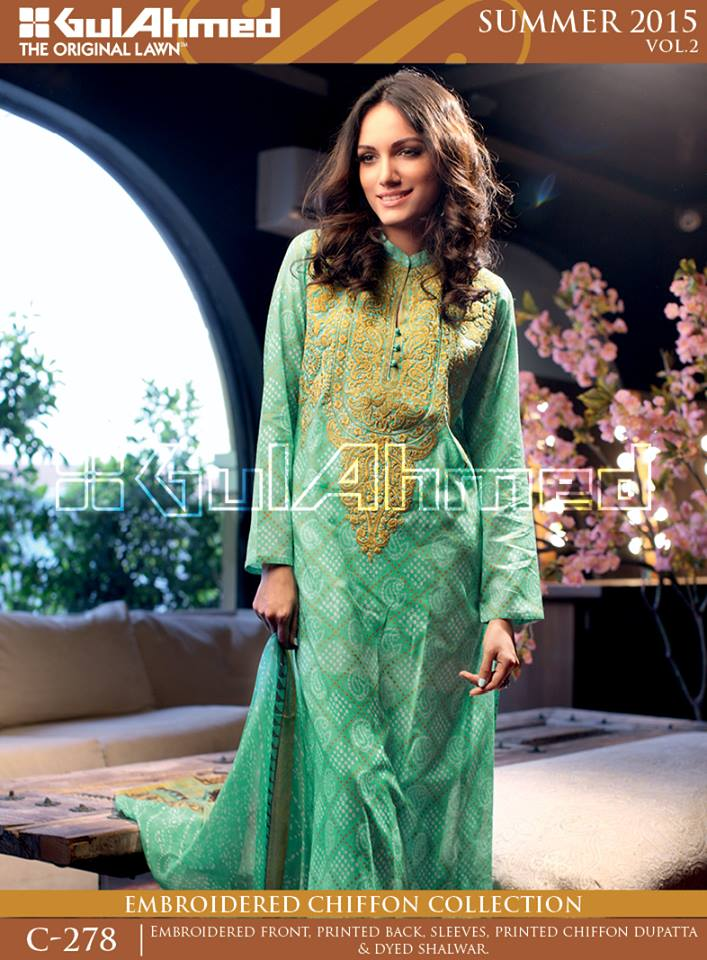 Gul Ahmed The Original Lawn Summer Lawn Chiffon Dresses Collection 2015-2016 (25)