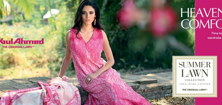 Gul Ahmed The Original Lawn Summer Lawn Chiffon Dresses Collection 2015-2016 (27)