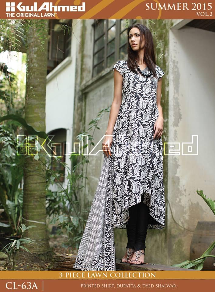 Gul Ahmed The Original Lawn Summer Lawn Chiffon Dresses Collection 2015-2016 (4)