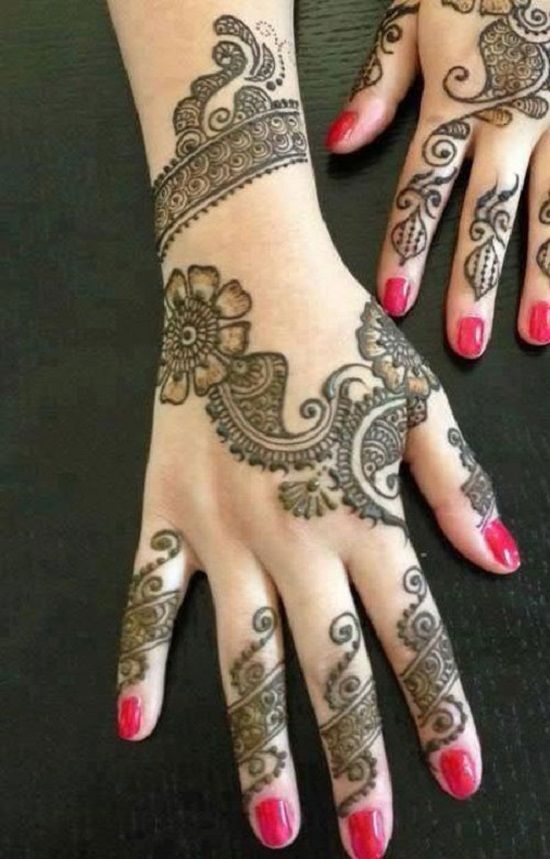 Latest Eid Mehndi Designs for Hands Feet Collection 2015-201 (7)