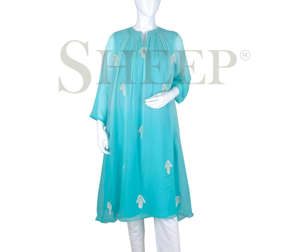 Ladies Fancy Embroidered Kurtis Designs 2016-2017 By SHEEP