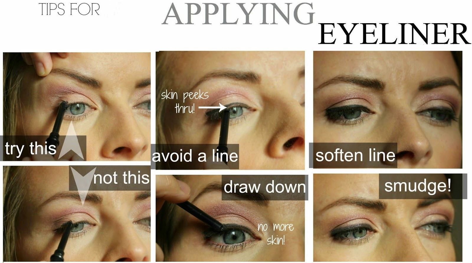 How to apply a perfect & flawless Eyeliner Step by Step Tutorial with Pictures (3)