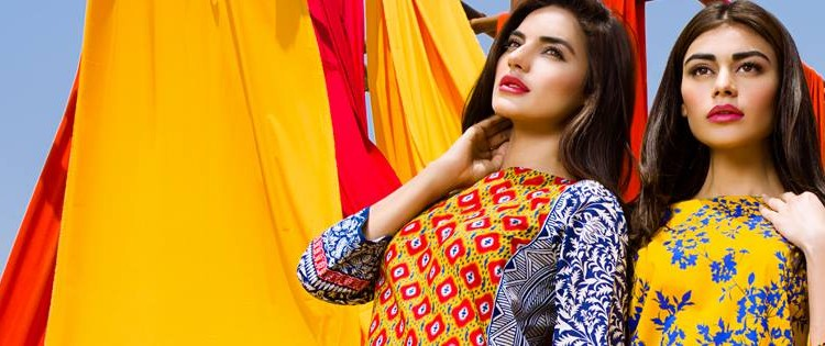 Khaadi Printed & Embroidered Lawn Suits Summer Collection 2015-2016 (6)