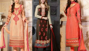 Pakistani & Indian Straight Cut Dresses Collection 2015