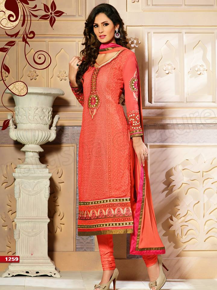 Pakistani & Indian Straight Cut Salwar Suits Designs Latest Collection 2015-2016 (14)