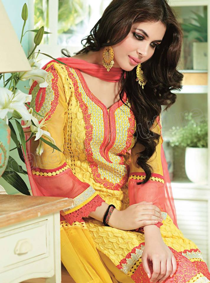 Pakistani & Indian Straight Cut Salwar Suits Designs Latest Collection 2015-2016 (23)