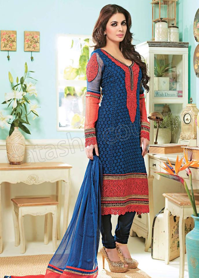 Pakistani & Indian Straight Cut Salwar Suits Designs Latest Collection 2015-2016 (27)