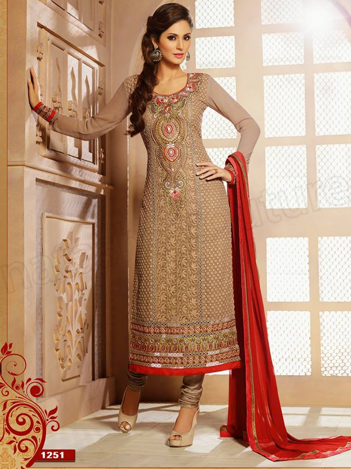 Pakistani & Indian Straight Cut Salwar Suits Designs Latest Collection 2015-2016 (6)