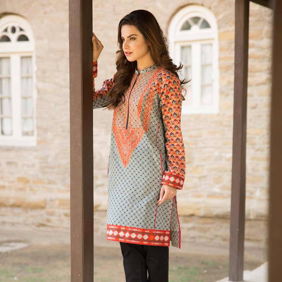 Summer lawn kurti trends collection 2015-2016 (10)