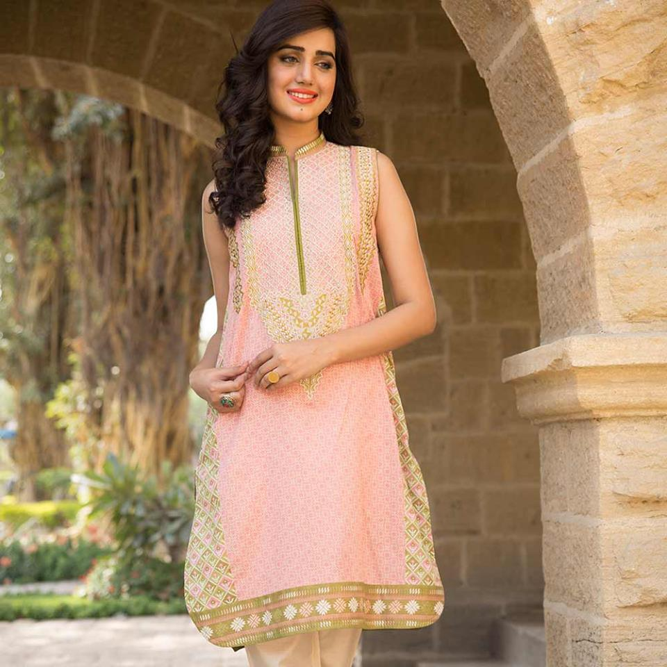 Summer lawn kurti trends collection 2015-2016 (11)