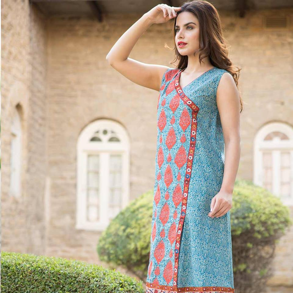 Summer lawn kurti trends collection 2015-2016 (12)