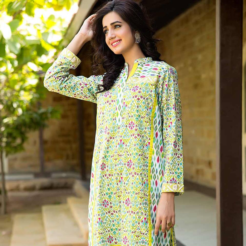Summer lawn kurti trends collection 2015-2016 (14)