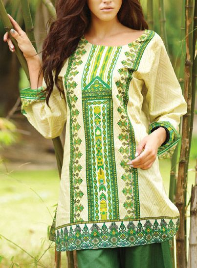 Summer lawn kurti trends collection 2015-2016 (5)