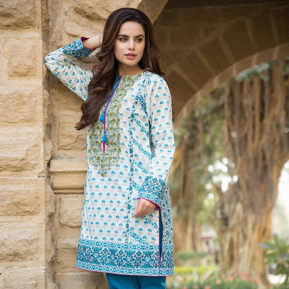 Summer lawn kurti trends collection 2015-2016 (8)