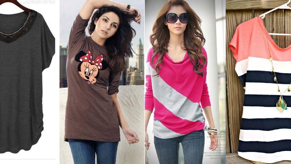 Ladies Stylish Summer T Shirts Collection 2015 2016