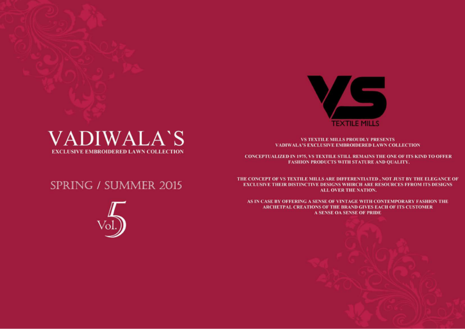 VS Textile Mills Vadiwala Classic Lawn Embroidered Chiffon Collection 2015-2016 (1)