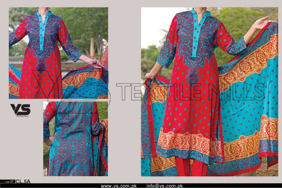 VS Textile Mills Vadiwala Classic Lawn Embroidered Chiffon Collection 2015-2016 (13)