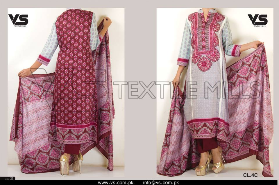 VS Textile Mills Vadiwala Classic Lawn Embroidered Chiffon Collection 2015-2016 (16)