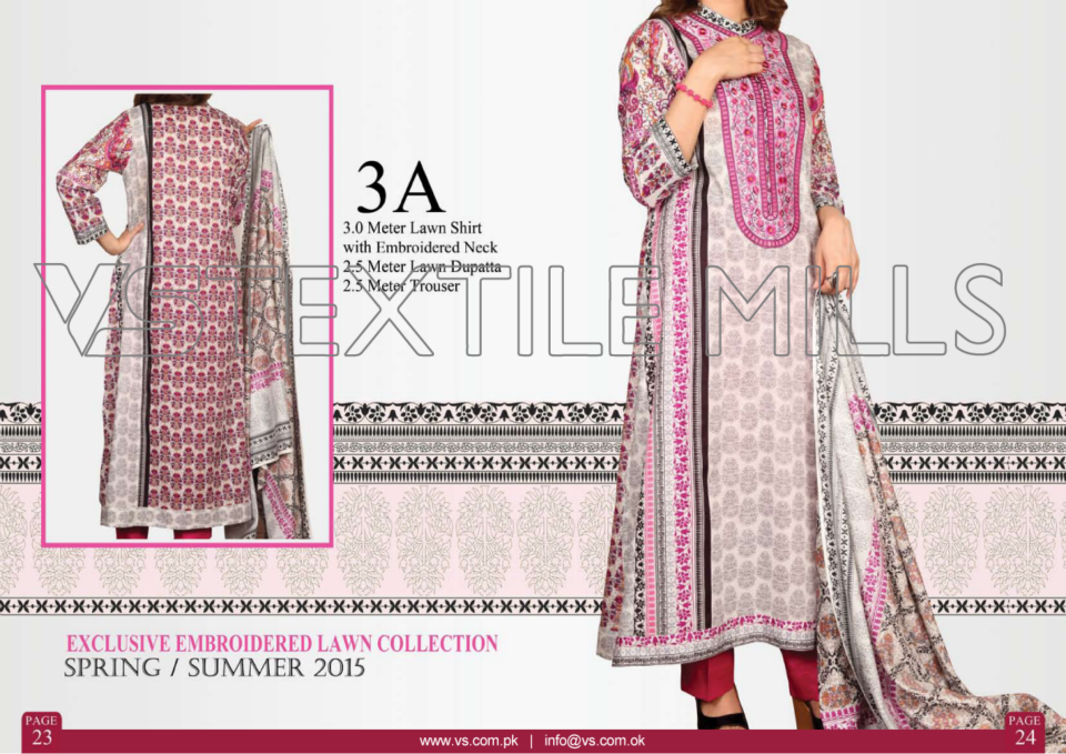 VS Textile Mills Vadiwala Classic Lawn Embroidered Chiffon Collection 2015-2016 (2)