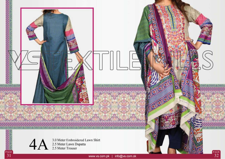 VS Textile Mills Vadiwala Classic Lawn Embroidered Chiffon Collection 2015-2016 (21)
