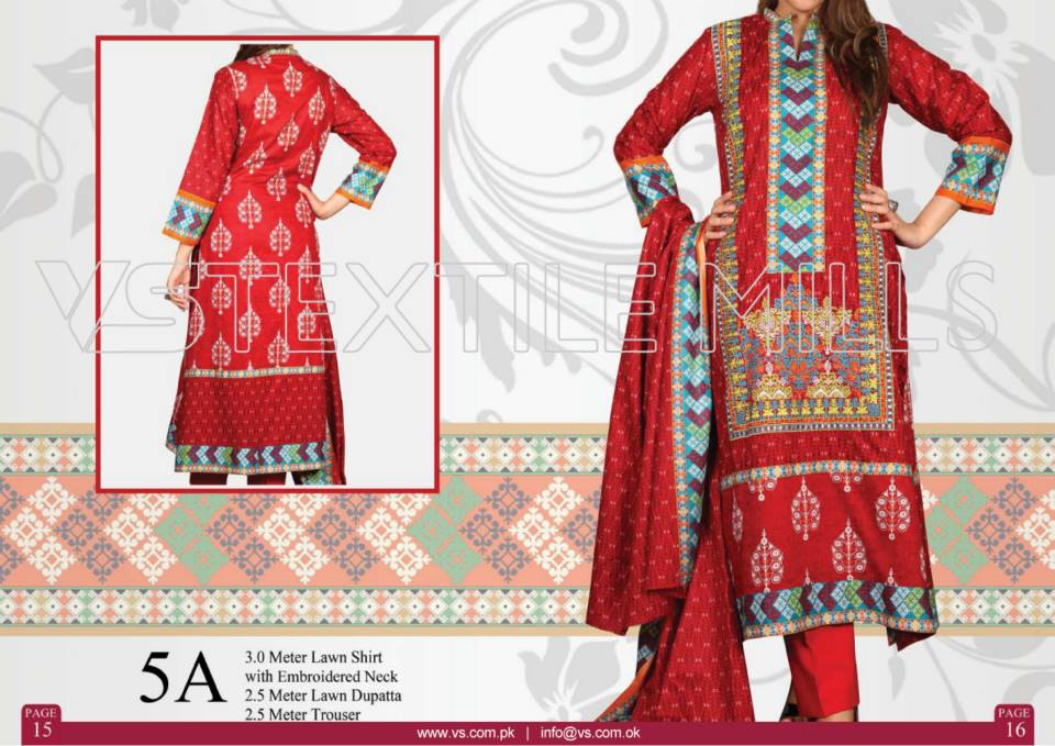 VS Textile Mills Vadiwala Classic Lawn Embroidered Chiffon Collection 2015-2016 (25)