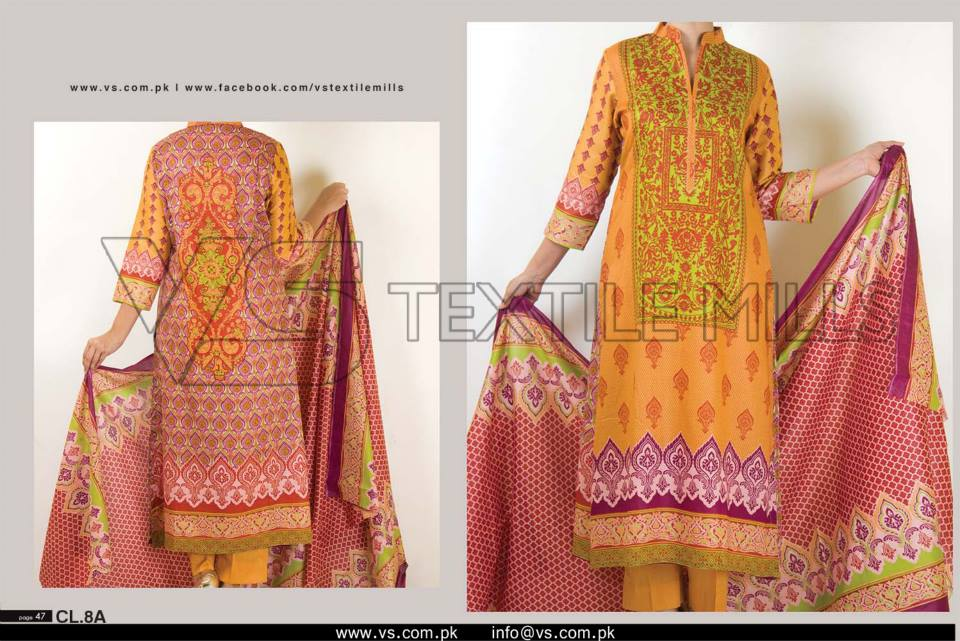VS Textile Mills Vadiwala Classic Lawn Embroidered Chiffon Collection 2015-2016 (29)