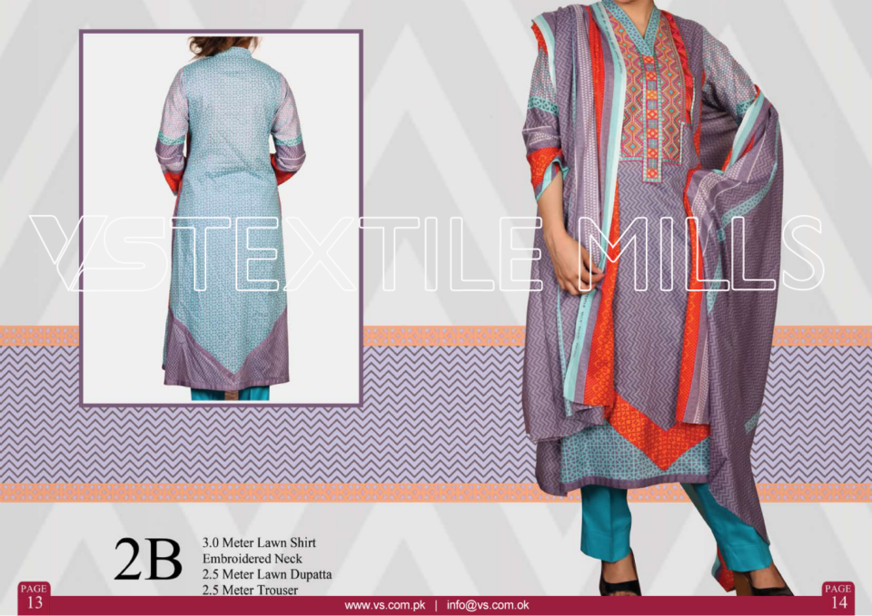 VS Textile Mills Vadiwala Classic Lawn Embroidered Chiffon Collection 2015-2016 (3)