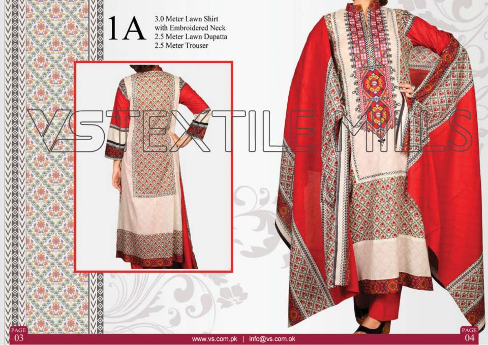 VS Textile Mills Vadiwala Classic Lawn Embroidered Chiffon Collection 2015-2016 (30)