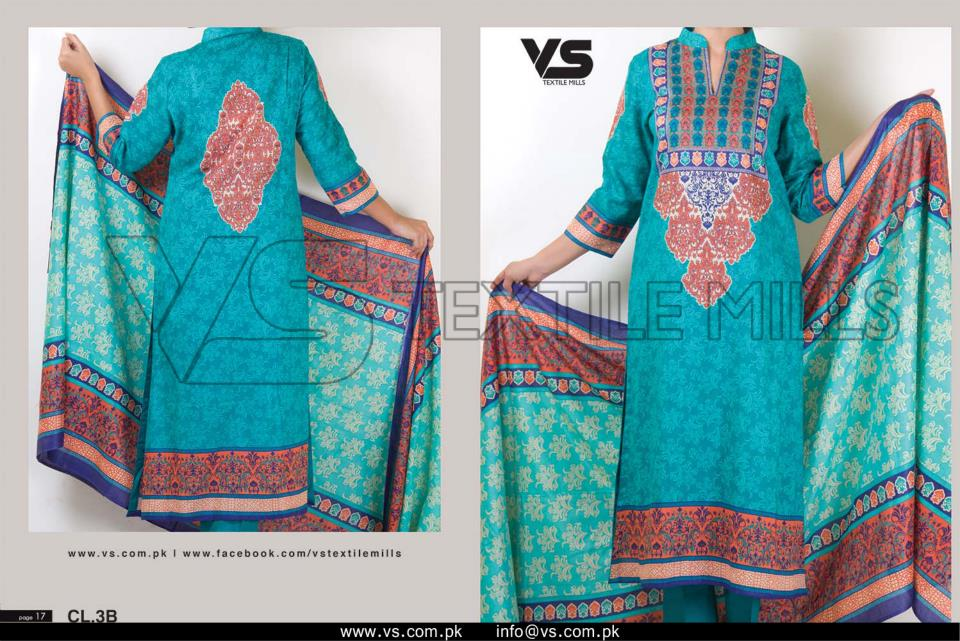 VS Textile Mills Vadiwala Classic Lawn Embroidered Chiffon Collection 2015-2016 (31)