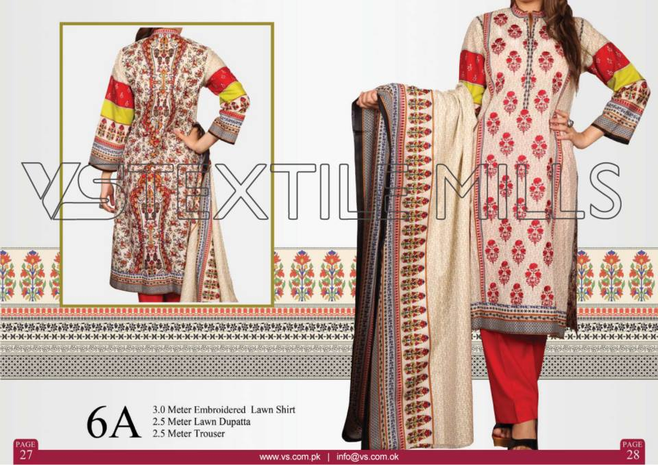 VS Textile Mills Vadiwala Classic Lawn Embroidered Chiffon Collection 2015-2016 (33)