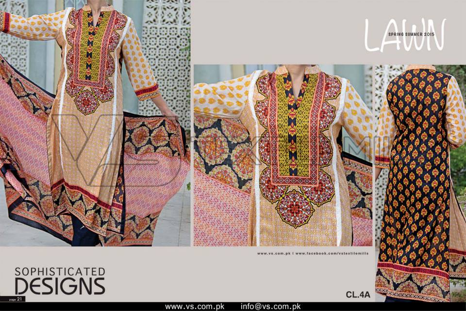 VS Textile Mills Vadiwala Classic Lawn Embroidered Chiffon Collection 2015-2016 (36)