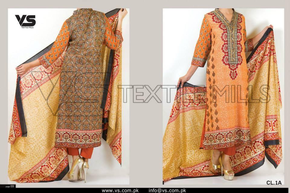 VS Textile Mills Vadiwala Classic Lawn Embroidered Chiffon Collection 2015-2016 (6)