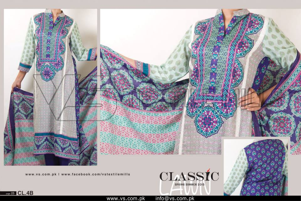 VS Textile Mills Vadiwala Classic Lawn Embroidered Chiffon Collection 2015-2016 (7)