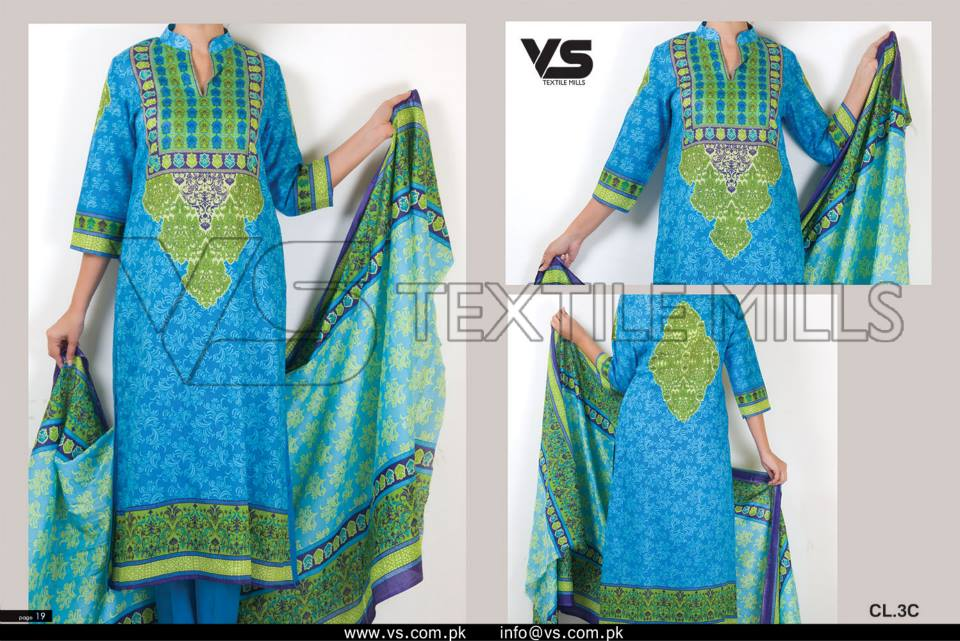 VS Textile Mills Vadiwala Classic Lawn Embroidered Chiffon Collection 2015-2016 (8)
