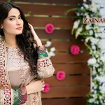 Latest Fancy Embroidered Frocks & Gowns 2016-2017 by Zainab Hasan