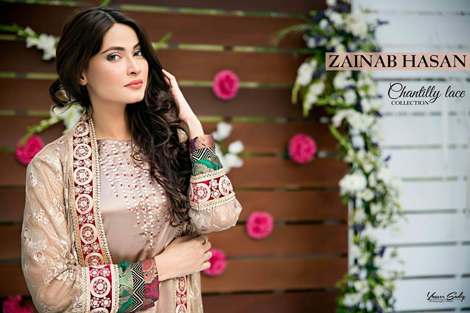 Latest Fancy Embroidered Frocks Gowns 2016 2017 By Zainab