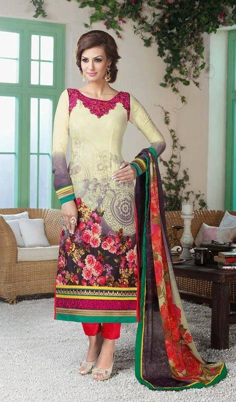 Latest Indian Designer Churidar Suits Salwar Kameez Collection 2015-2016 (21)