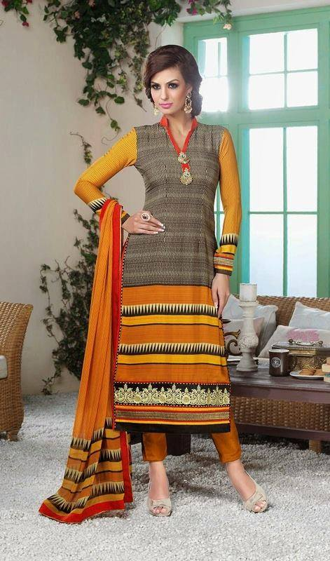 Latest Indian Designer Churidar Suits Salwar Kameez Collection 2015-2016 (25)