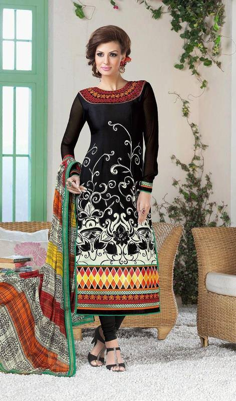 Latest Indian Designer Churidar Suits Salwar Kameez Collection 2015-2016 (30)