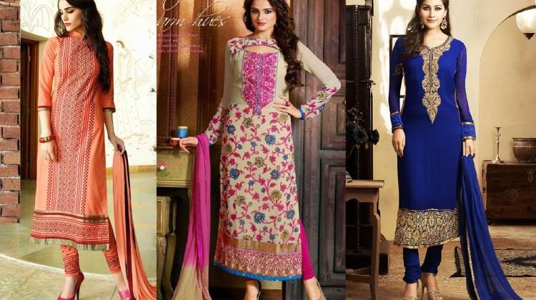 Latest Indian Designer Churidar Suits Salwar Kameez Collection 2015-2016