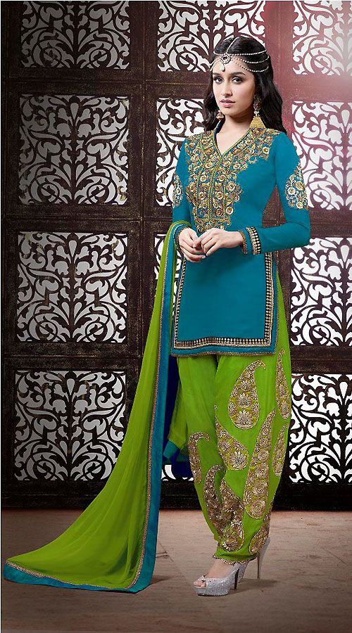Latest Indian Patiala shalwar kameez fashion 2015-2016 (18)