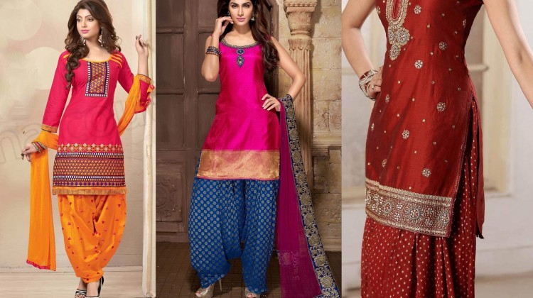 Latest Indian Patiala shalwar kameez fashion 2015-2016