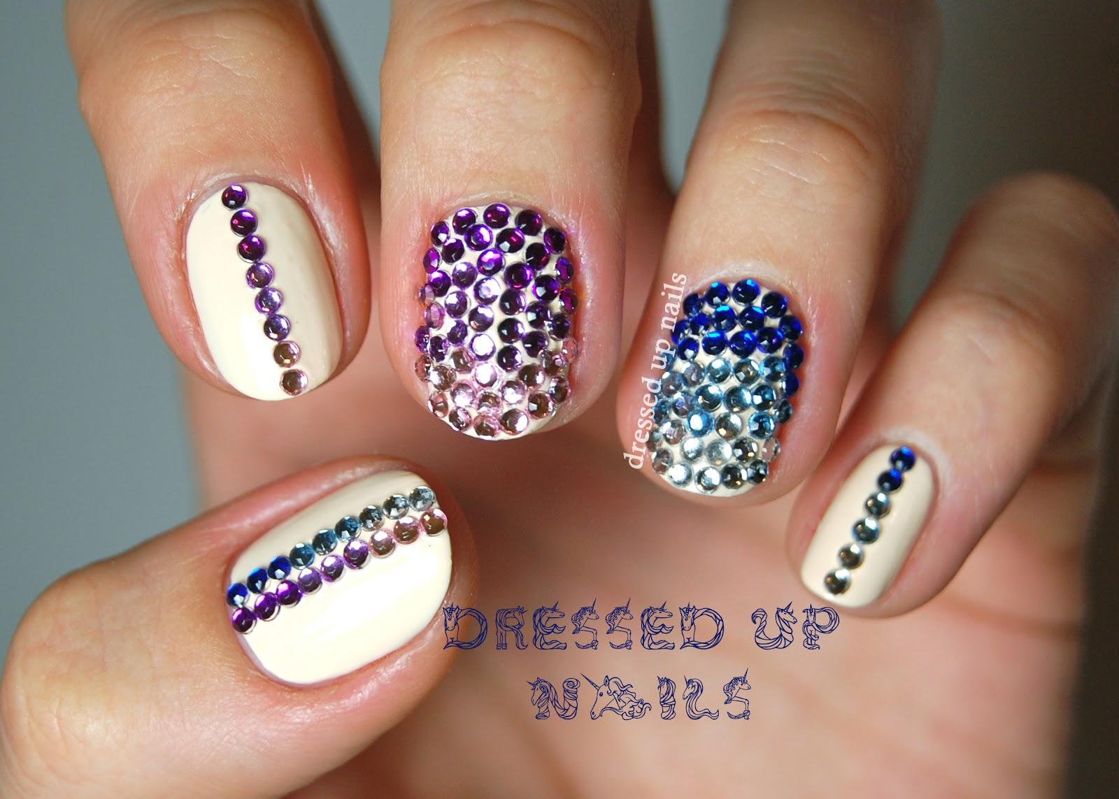 Rhinestone nail art step by step tutorial designs best rhinestone nail arts prinsesfo Gallery