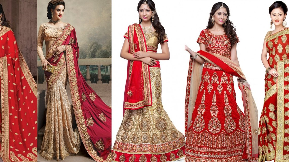 Current trend of bridal saree