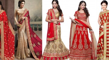 Latest Indian Wedding Saree & Lehenga Designs 2015-2016